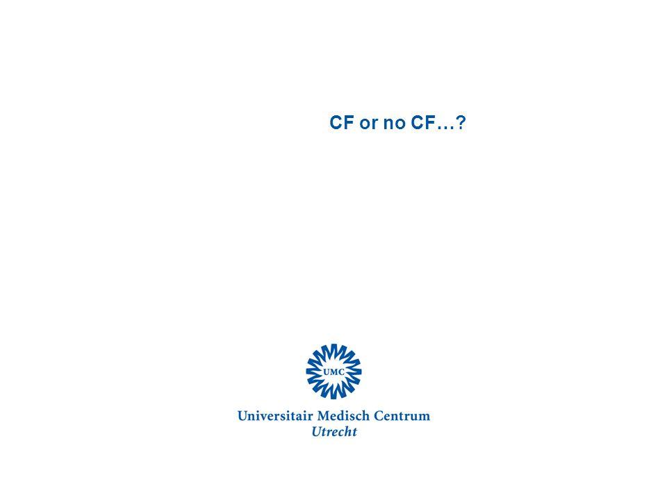 CF or no CF…