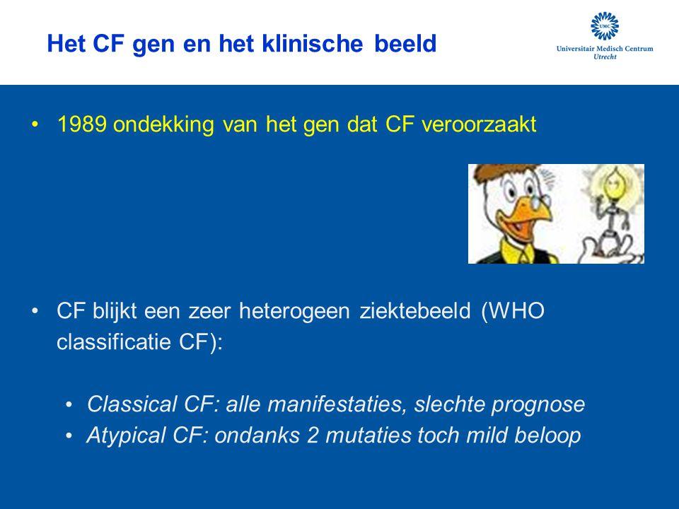 Het CF gen en het klinische beeld