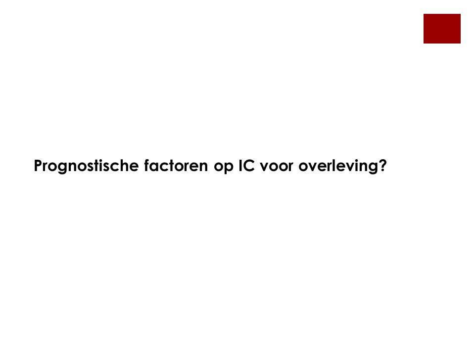 Prognostische factoren op IC voor overleving