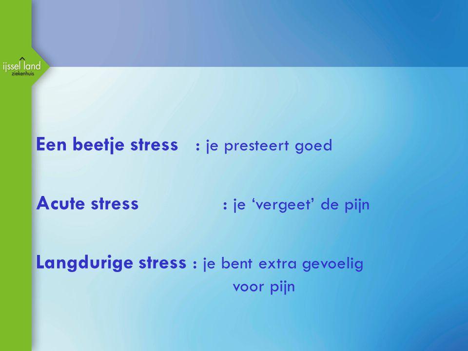 Een beetje stress : je presteert goed