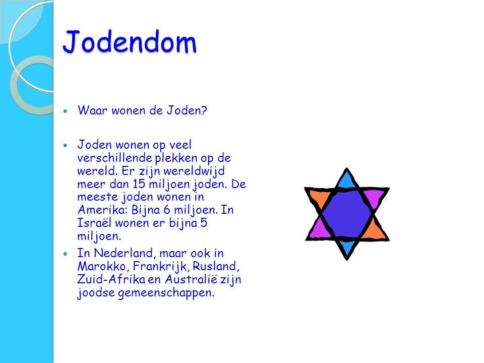 Jodendom Waar wonen de Joden