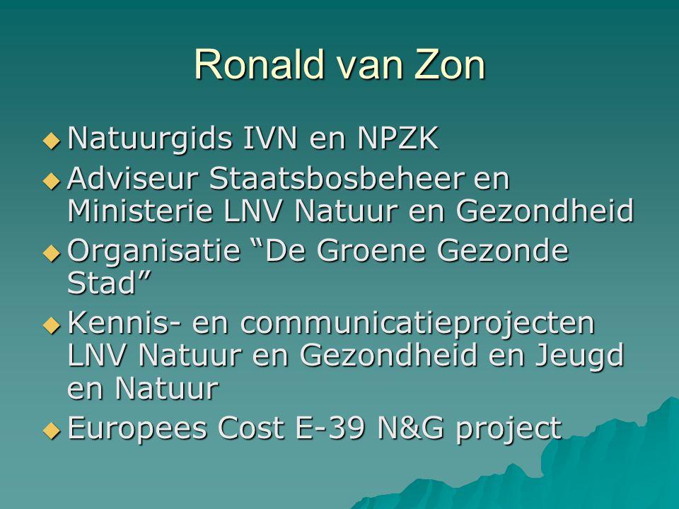 Ronald van Zon Natuurgids IVN en NPZK