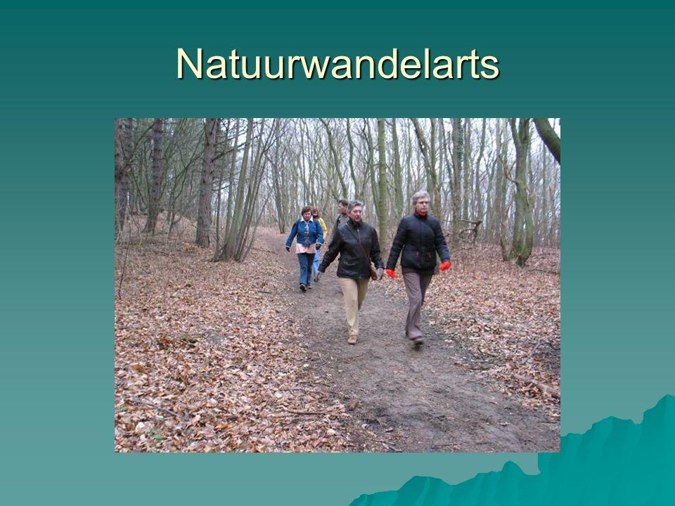 Natuurwandelarts Specifieke activiteit met 1 op 1 arts aandacht houding etc.