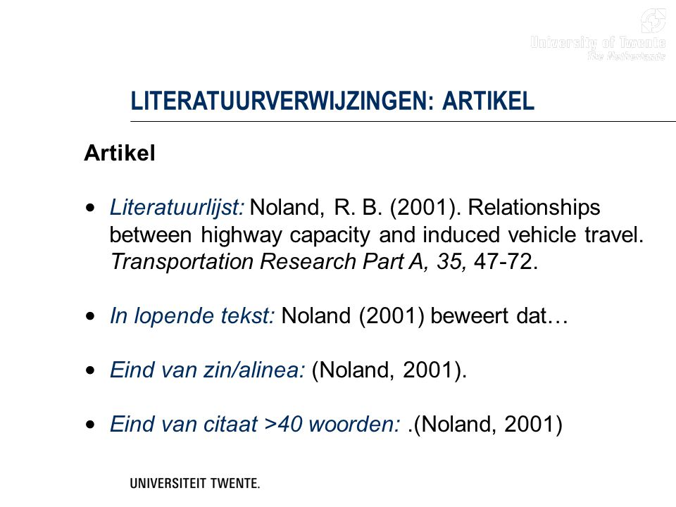 LITERATUURVERWIJZINGEN: ARTIKEL