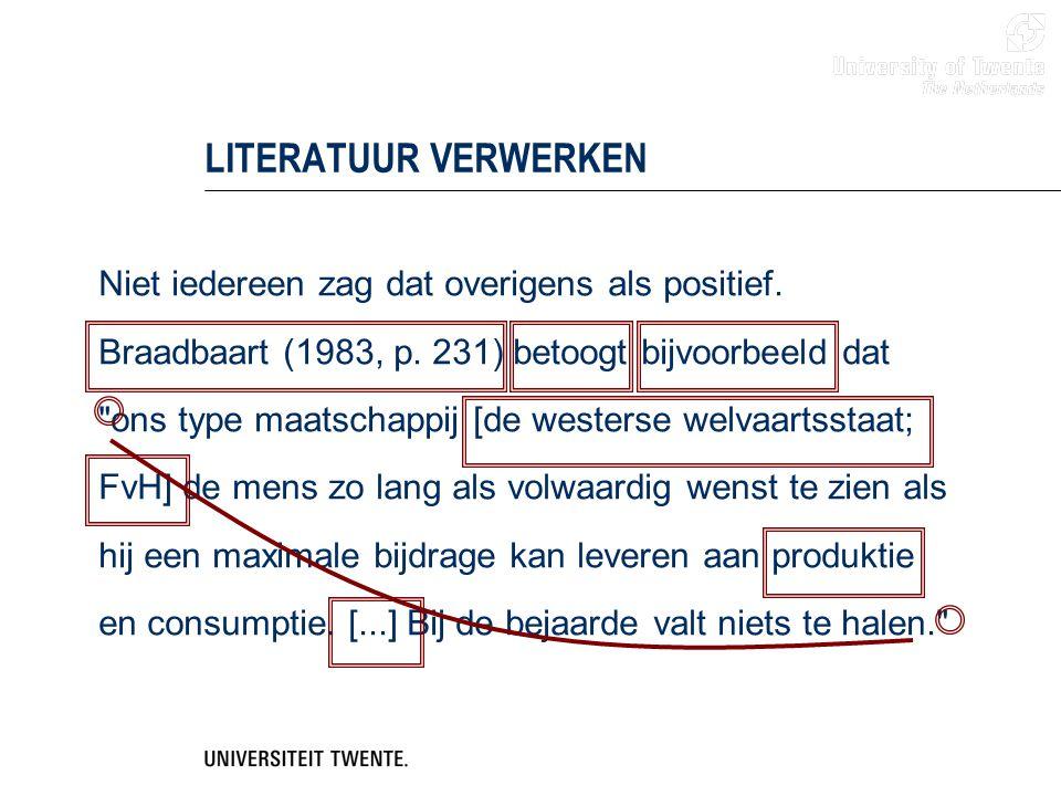 LITERATUUR VERWERKEN