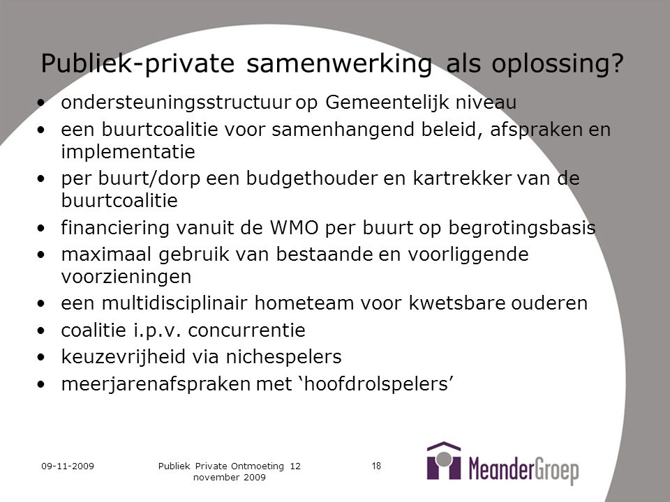 Publiek-private samenwerking als oplossing