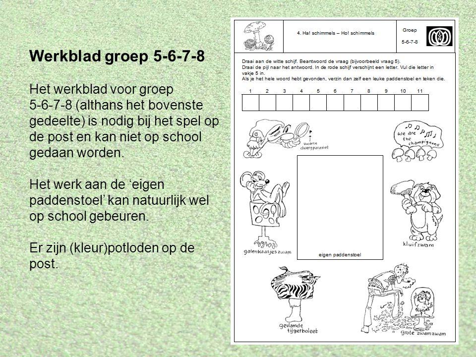 Werkblad groep 5-6-7-8