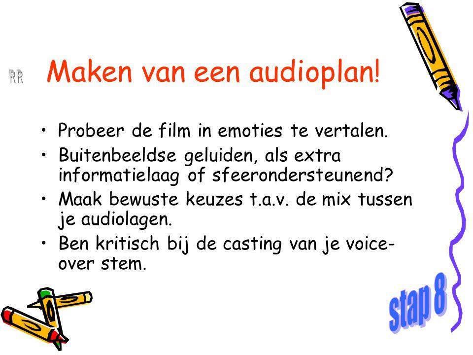 Maken van een audioplan!