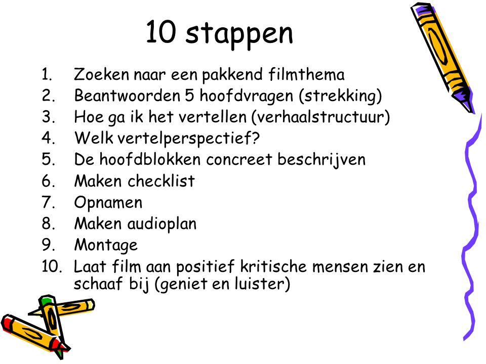 10 stappen Zoeken naar een pakkend filmthema