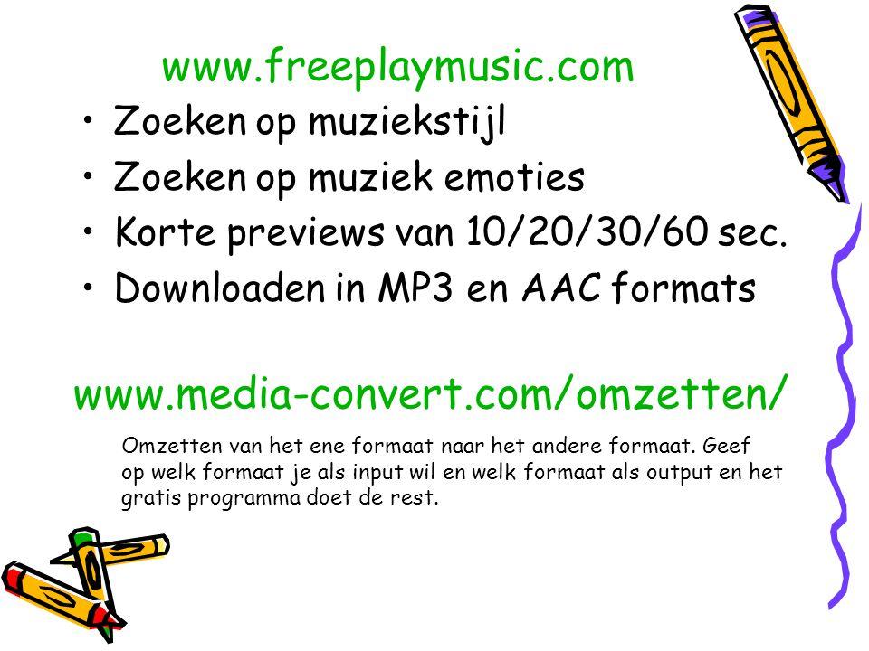 www.freeplaymusic.com www.media-convert.com/omzetten/