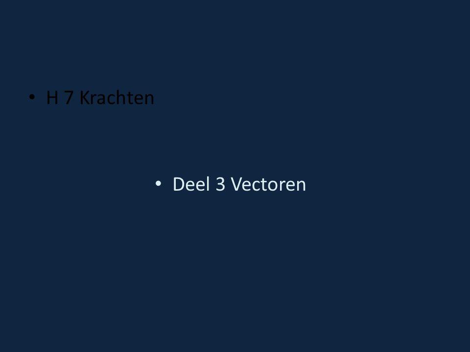 H 7 Krachten Deel 3 Vectoren
