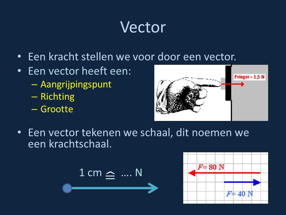 Vector Een kracht stellen we voor door een vector.