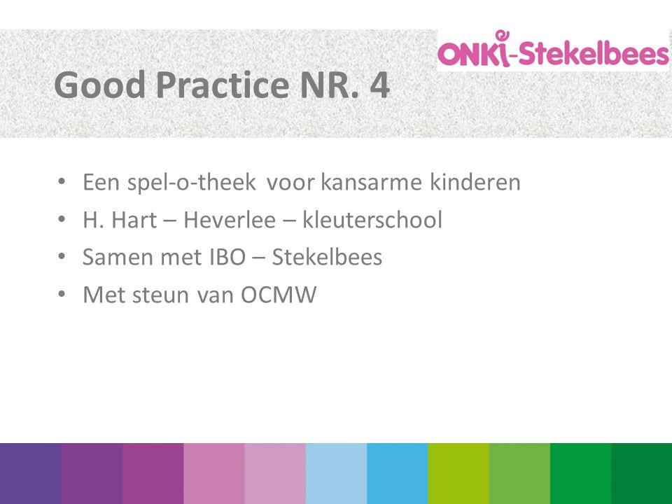 Good Practice NR. 4 Een spel-o-theek voor kansarme kinderen