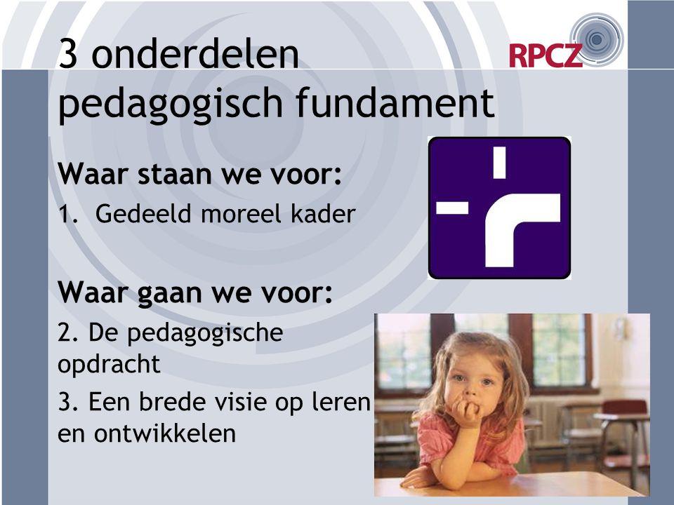3 onderdelen pedagogisch fundament