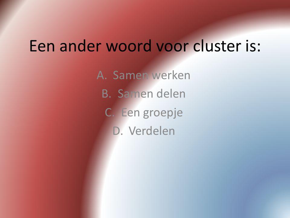 Een ander woord voor cluster is: