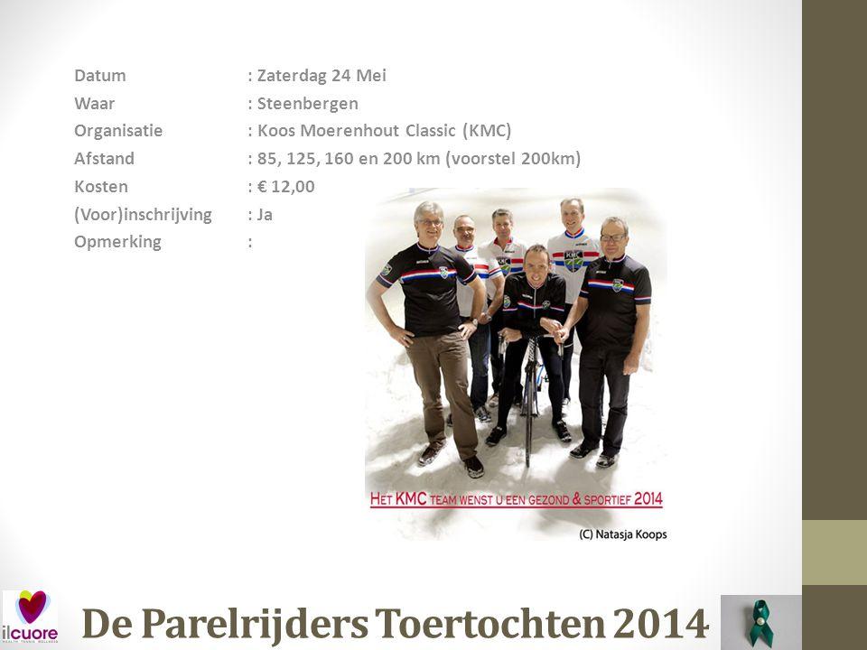 De Parelrijders Toertochten 2014