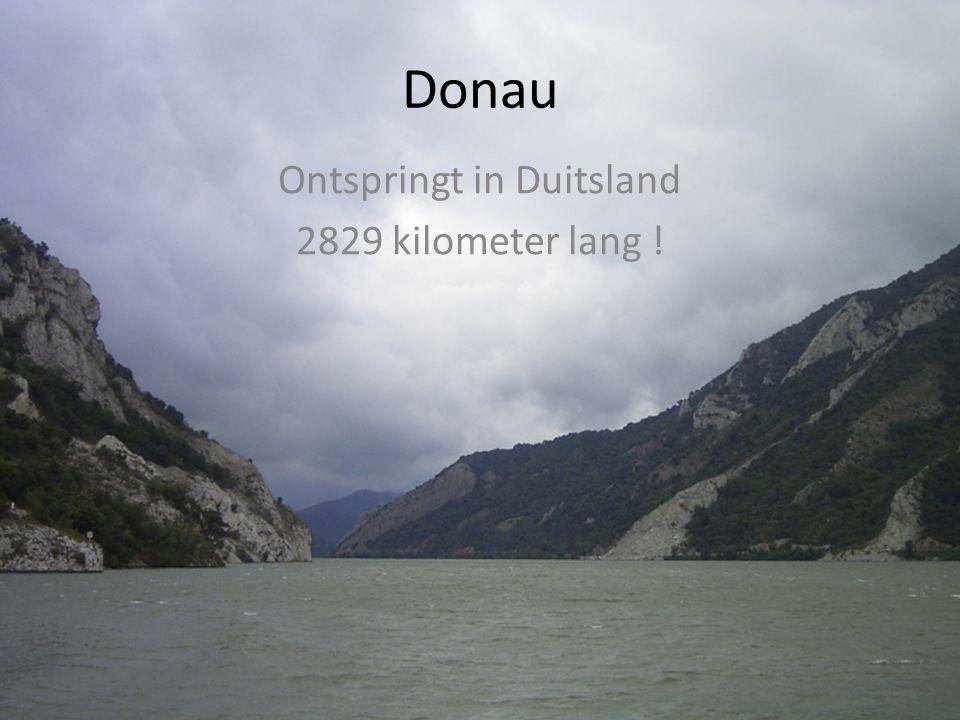 Ontspringt in Duitsland 2829 kilometer lang !