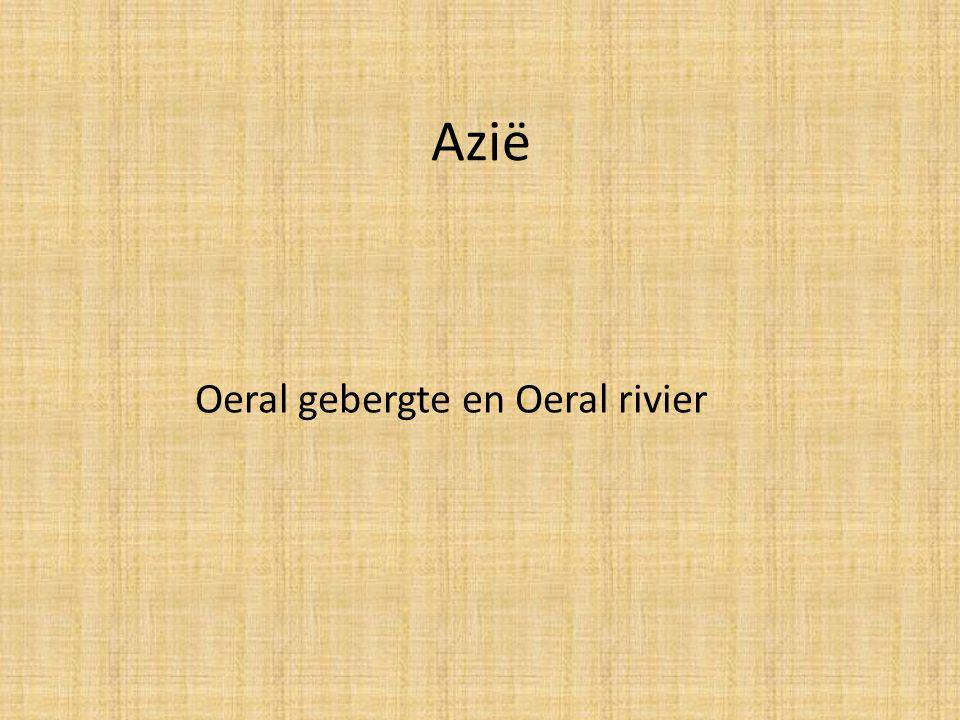 Azië Oeral gebergte en Oeral rivier