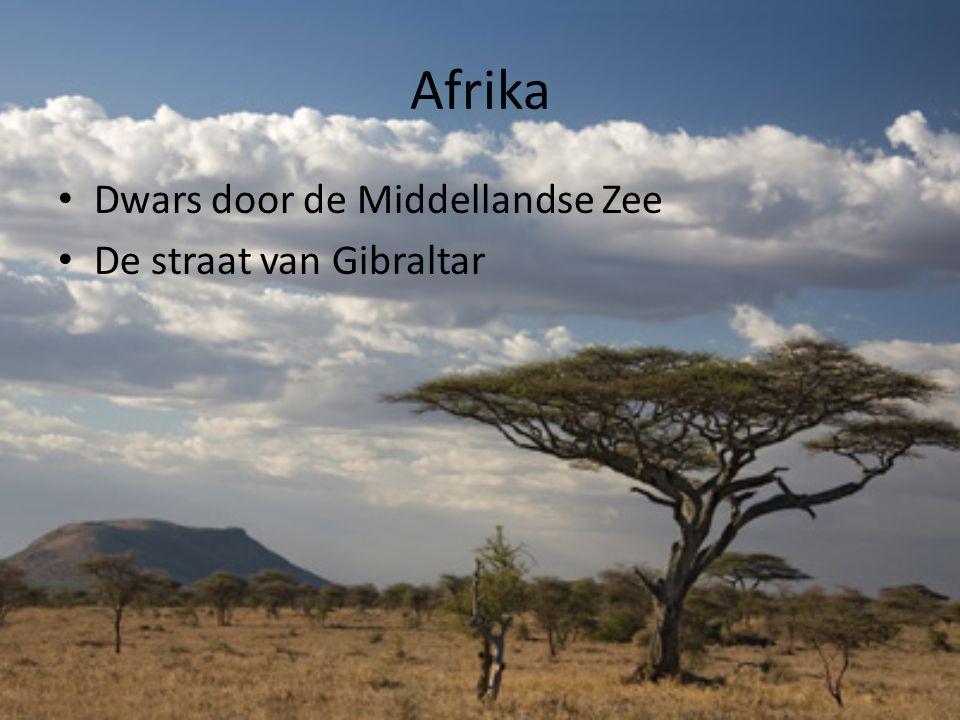 Afrika Dwars door de Middellandse Zee De straat van Gibraltar