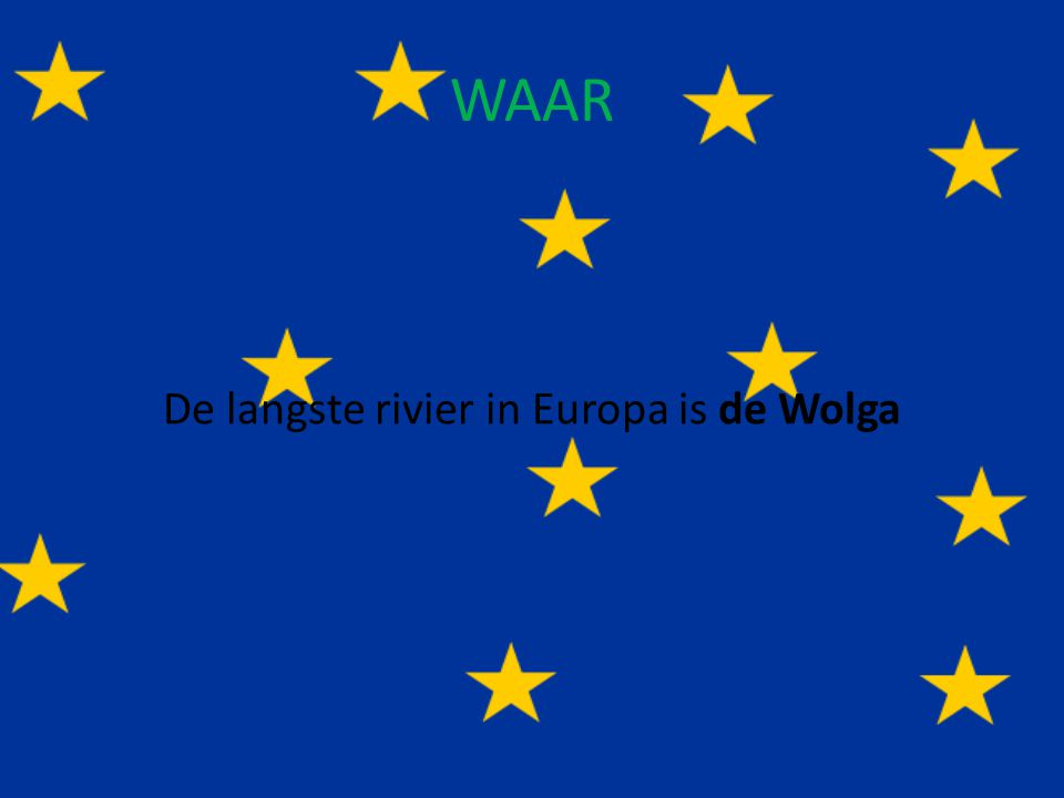 De langste rivier in Europa is de Wolga