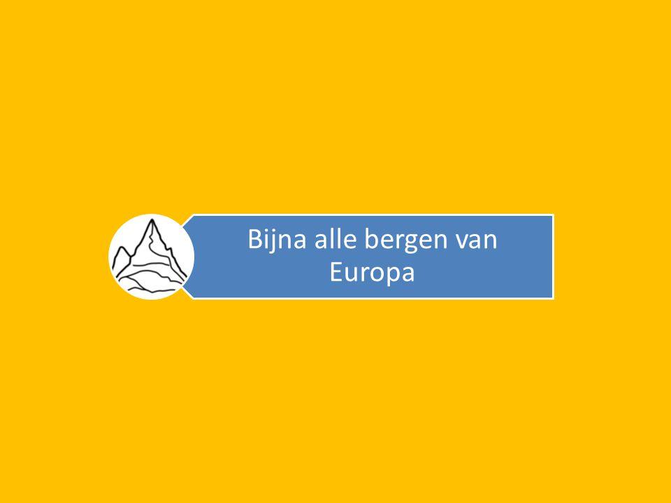 Bijna alle bergen van Europa