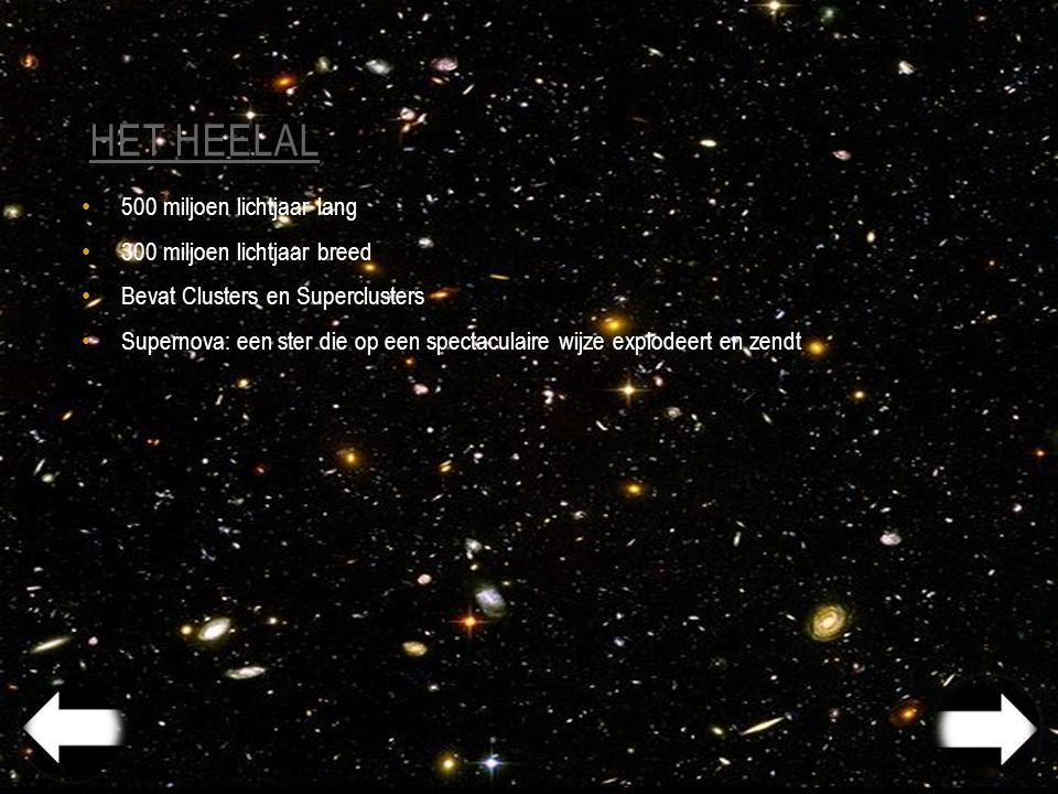 het heelal 500 miljoen lichtjaar lang 300 miljoen lichtjaar breed