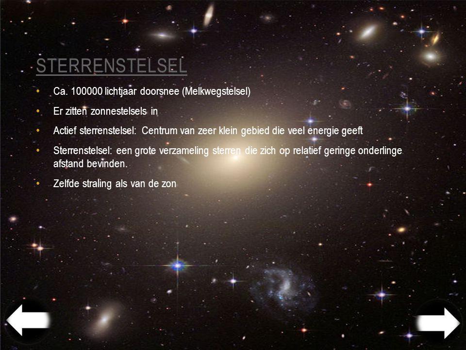 Sterrenstelsel Ca. 100000 lichtjaar doorsnee (Melkwegstelsel)