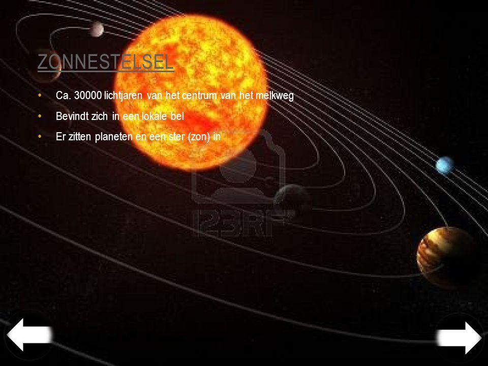 zonnestelsel Ca. 30000 lichtjaren van het centrum van het melkweg