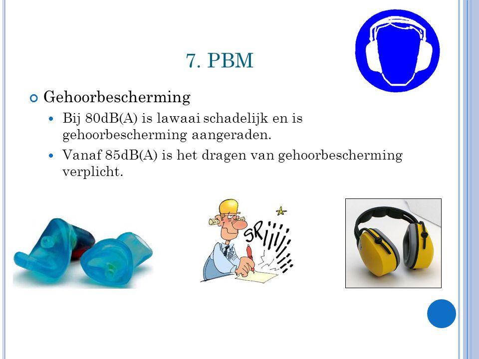7. PBM Gehoorbescherming