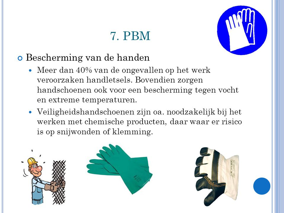 7. PBM Bescherming van de handen