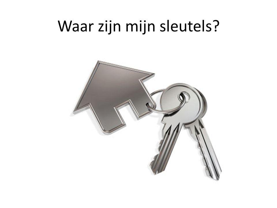 Waar zijn mijn sleutels