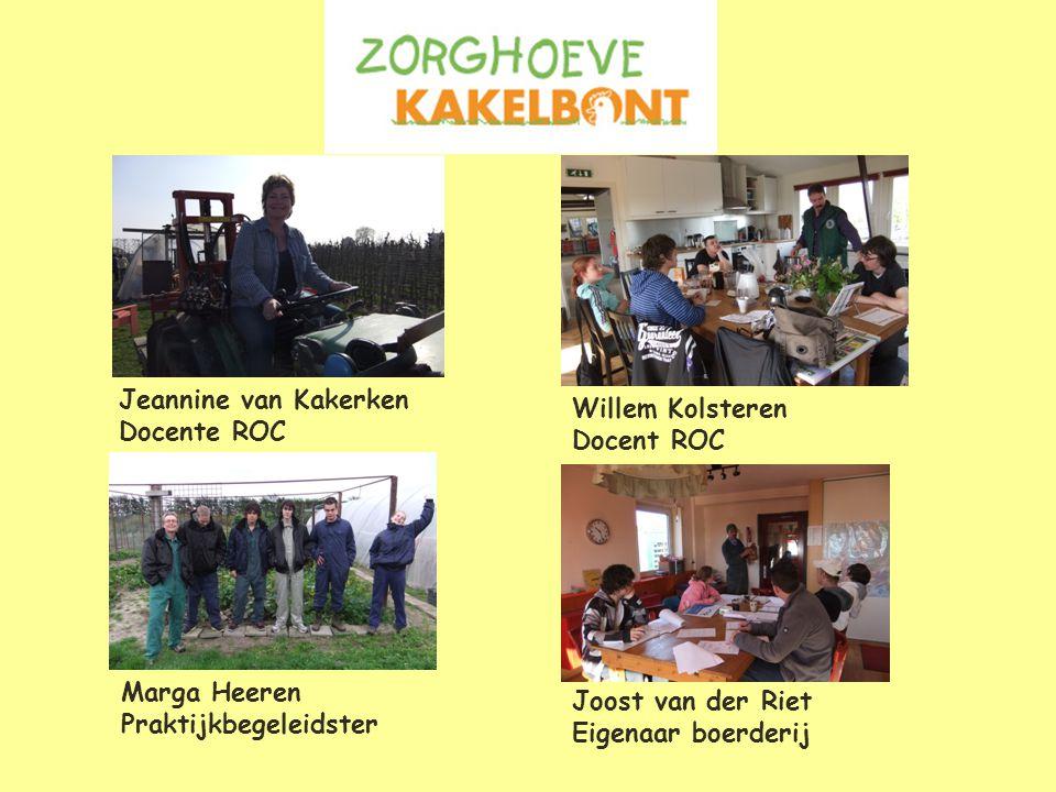 Jeannine van Kakerken Docente ROC. Willem Kolsteren. Docent ROC. Marga Heeren. Praktijkbegeleidster.