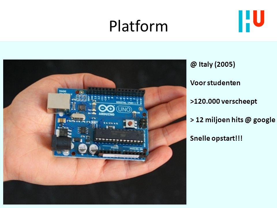 Platform @ Italy (2005) Voor studenten >120.000 verscheept