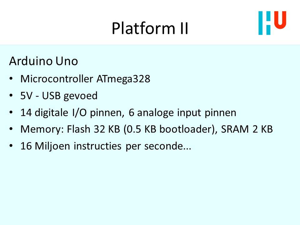 Platform II Arduino Uno Microcontroller ATmega328 5V - USB gevoed