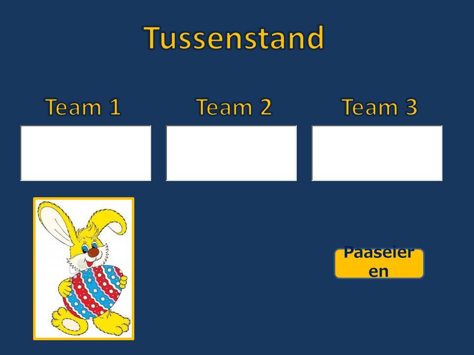 Tussenstand Team 1 Team 2 Team 3 Paaseieren