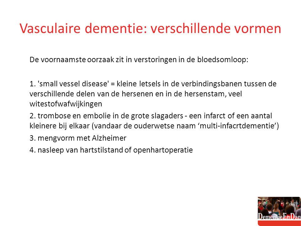 Vasculaire dementie: verschillende vormen