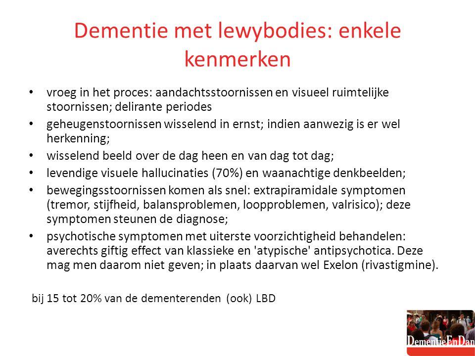 Dementie met lewybodies: enkele kenmerken