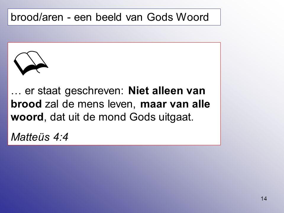 brood/aren - een beeld van Gods Woord