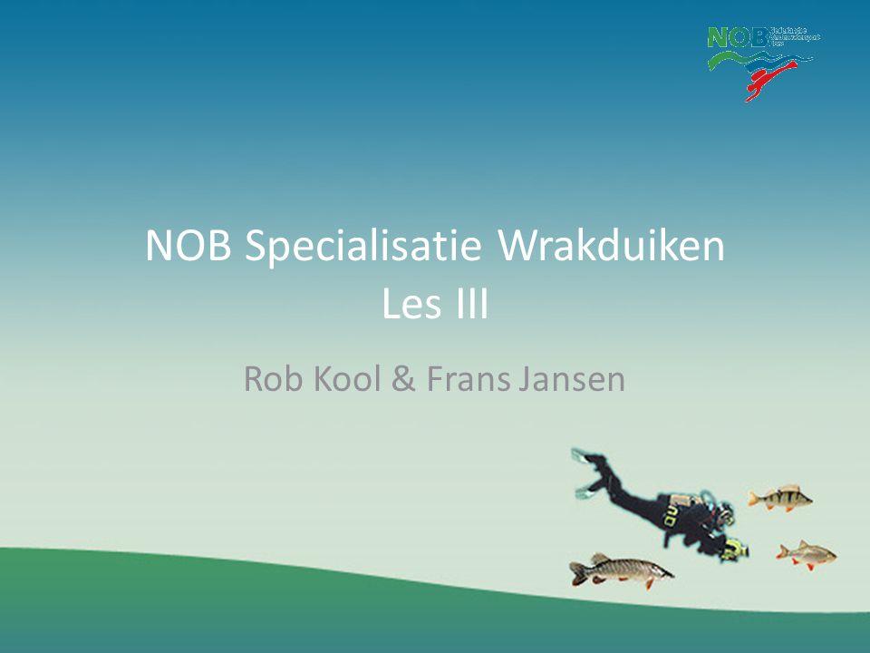 NOB Specialisatie Wrakduiken Les III
