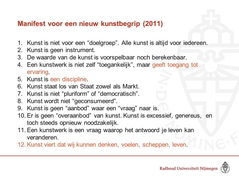 Manifest voor een nieuw kunstbegrip (2011)
