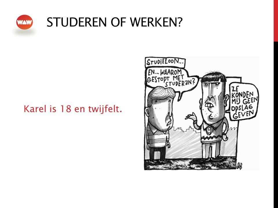 STUDEREN OF WERKEN Karel is 18 en twijfelt.