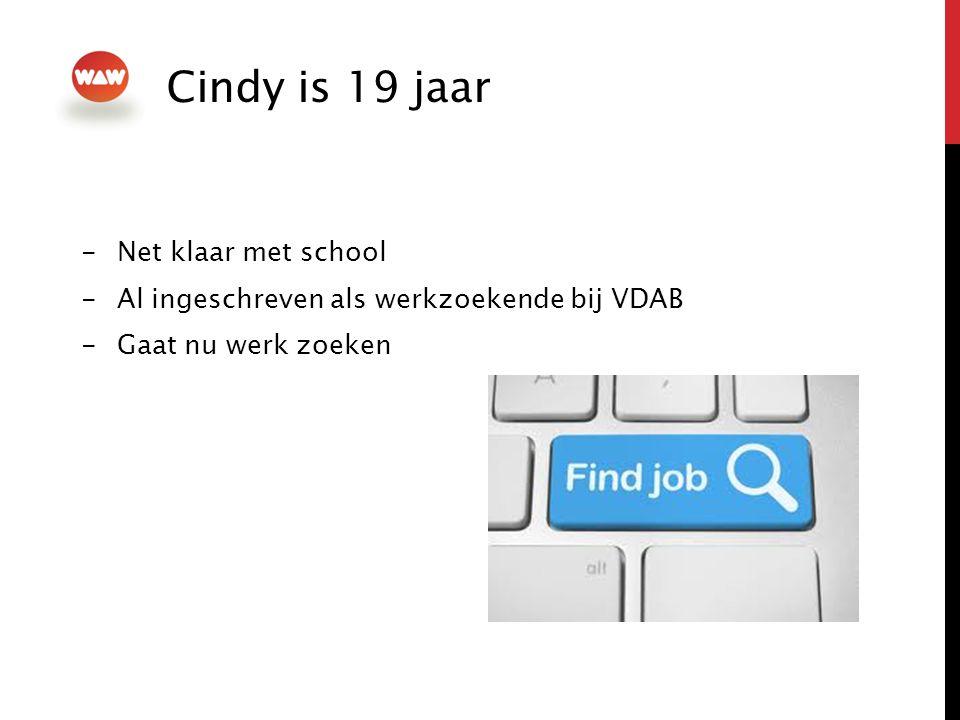 Cindy is 19 jaar Net klaar met school