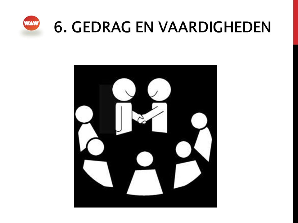6. Gedrag en vaardigheden