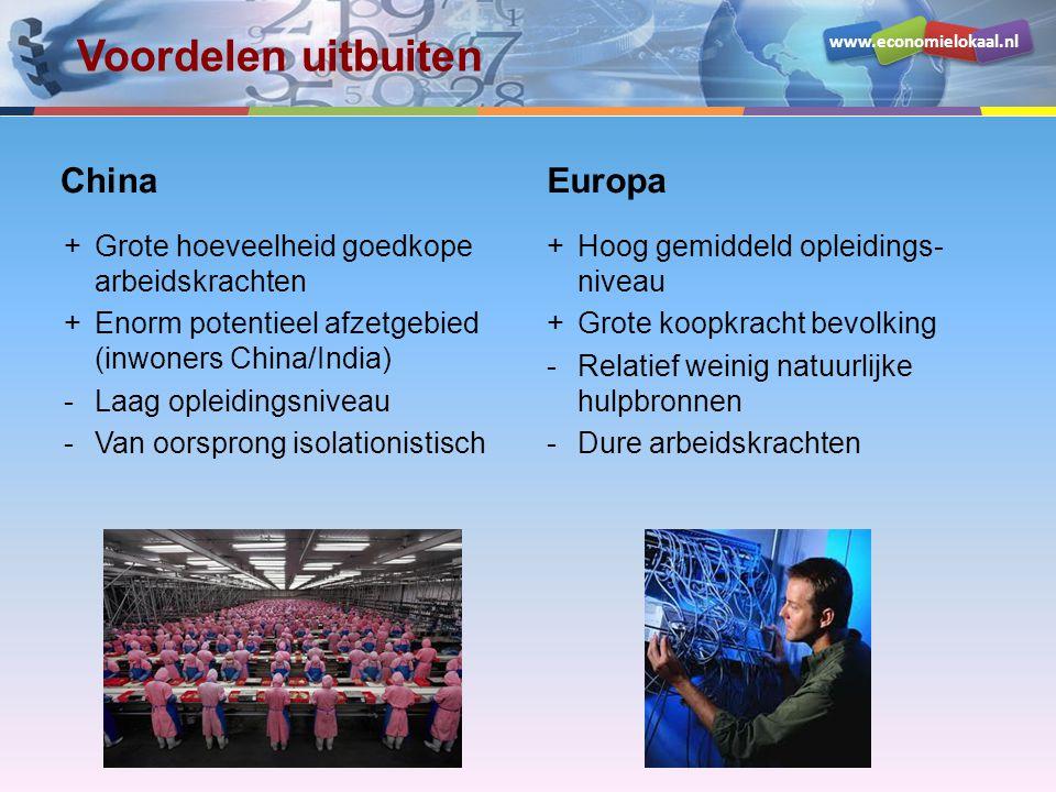 Voordelen uitbuiten China Europa
