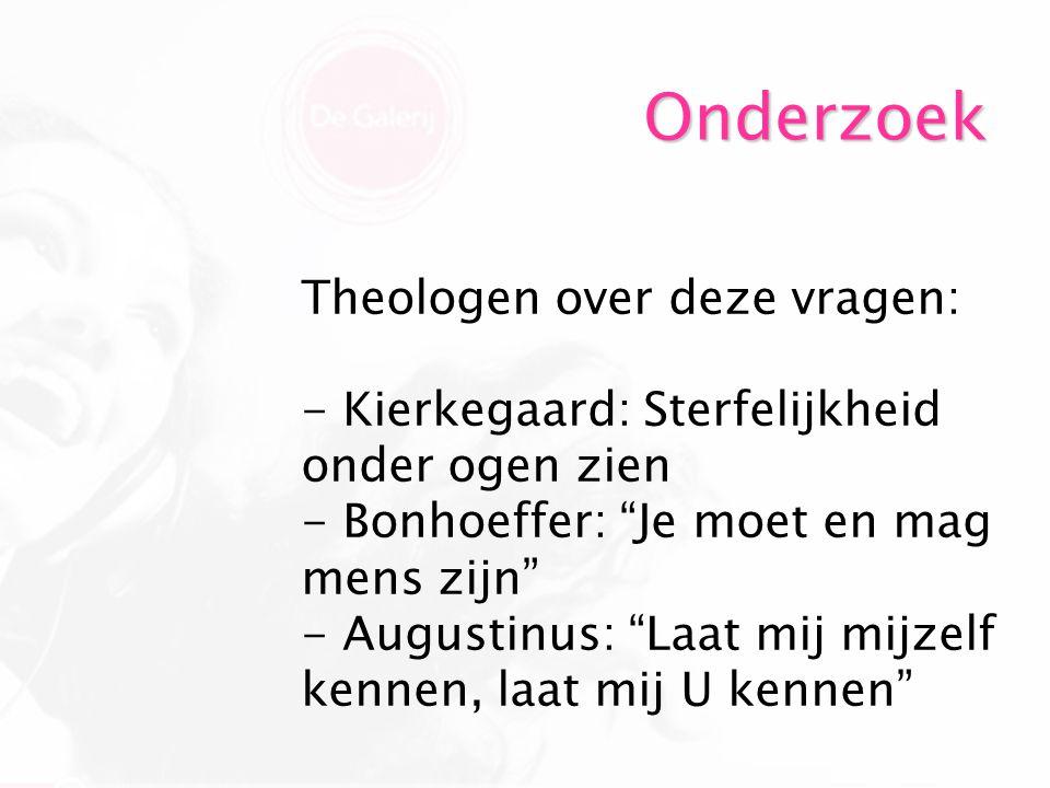 Onderzoek Theologen over deze vragen: