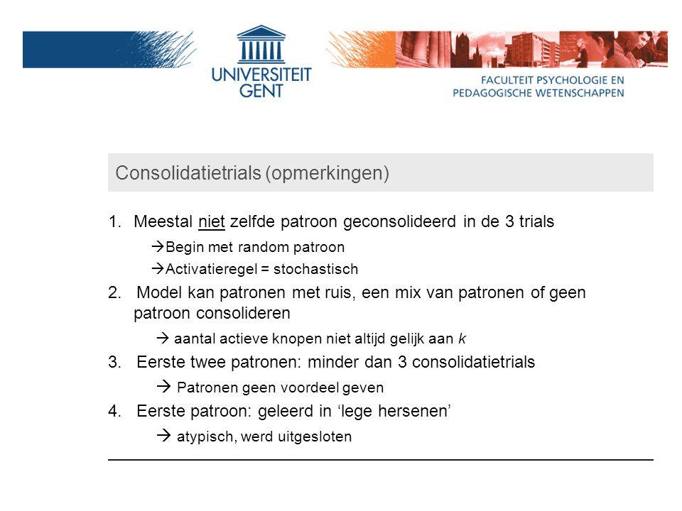 Consolidatietrials (opmerkingen)