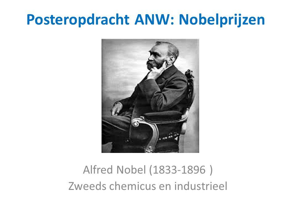 Posteropdracht ANW: Nobelprijzen