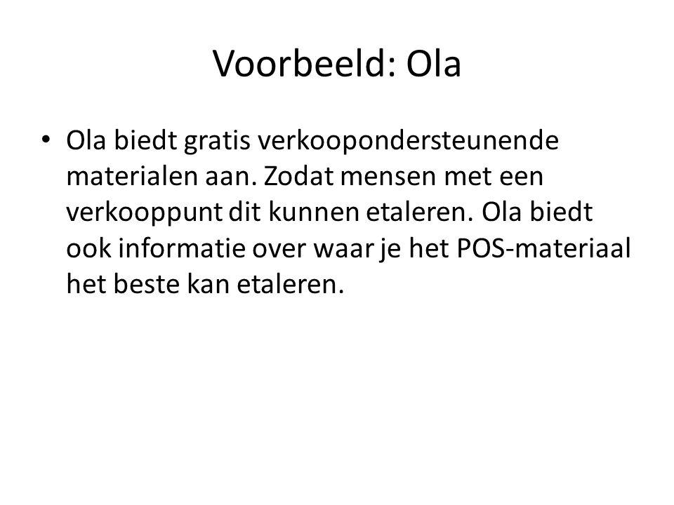 Voorbeeld: Ola