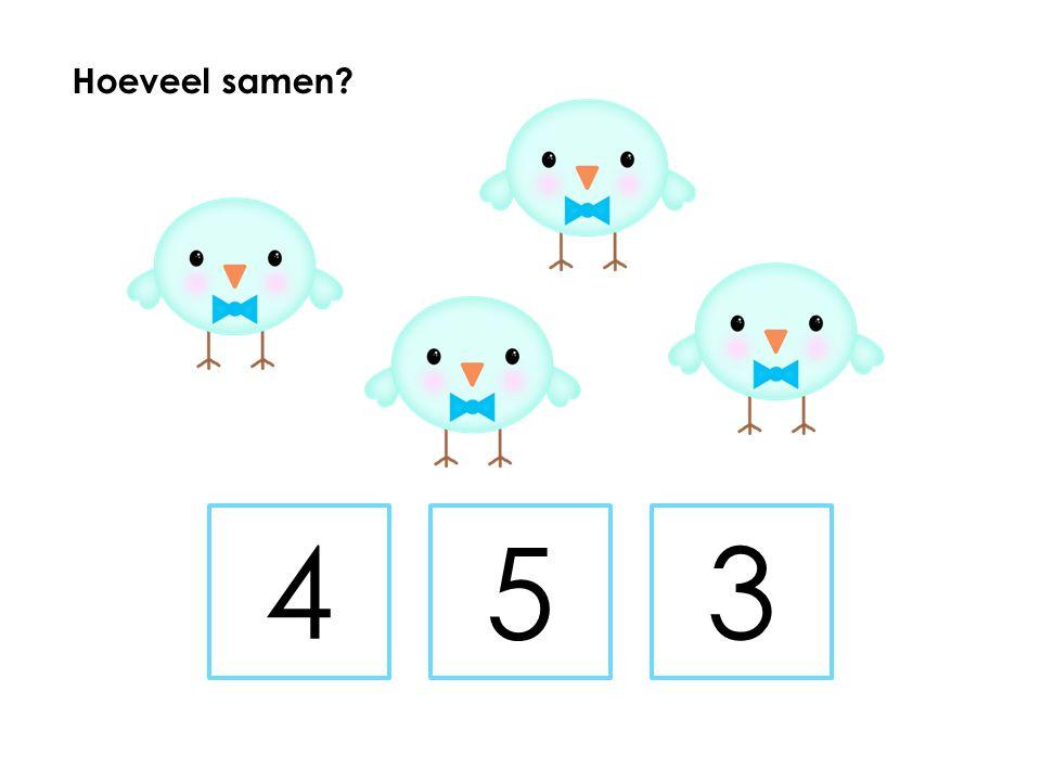 Hoeveel samen 4 5 3