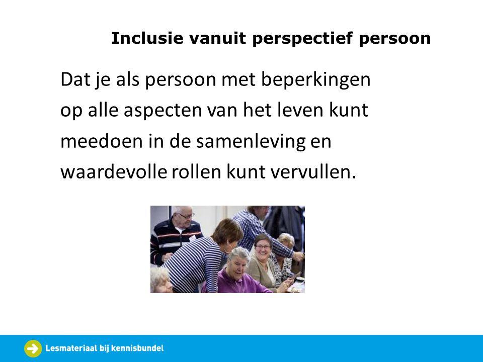 Inclusie vanuit perspectief persoon